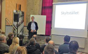 Veli-Matti på Skyltställets superkonferens